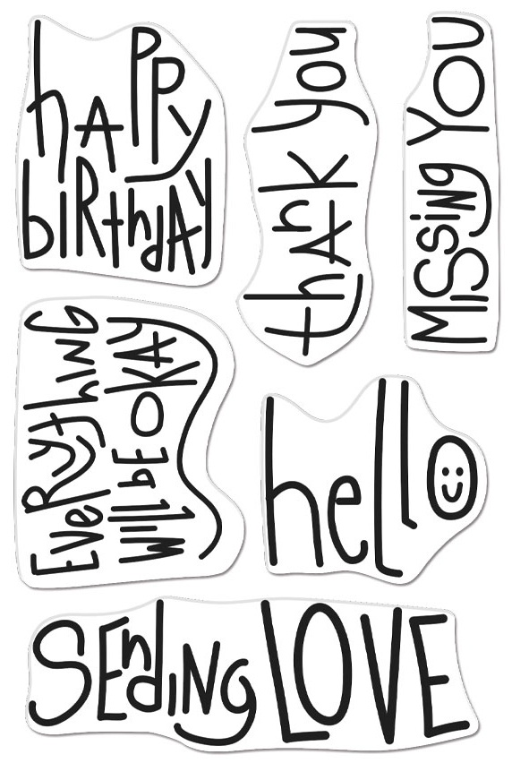 Hero Arts Clear Stamps 4X6 - Handwritten Messages
