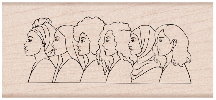 Hero Arts From The Vault Mounted Rubber Stamp-American Women