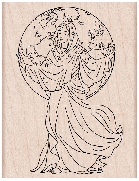 Hero Arts From The Vault Mounted Rubber Stamp-World Goddess