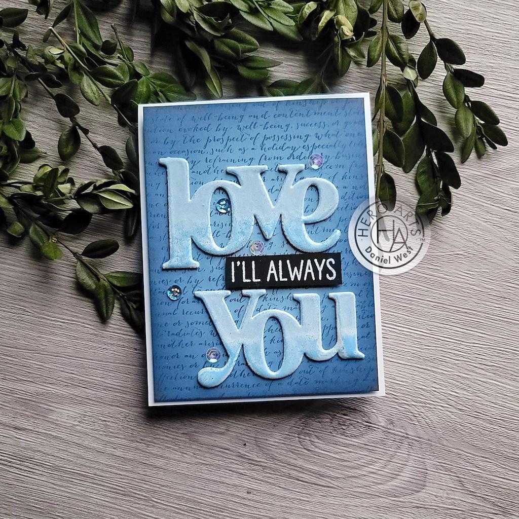 Hero Arts Stamp & Cut-Love You XL