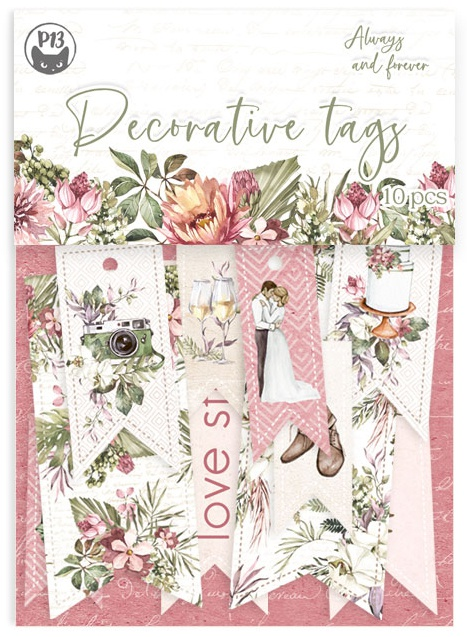 Always & Forever Double-Sided Cardstock Tags 10/Pkg-#02