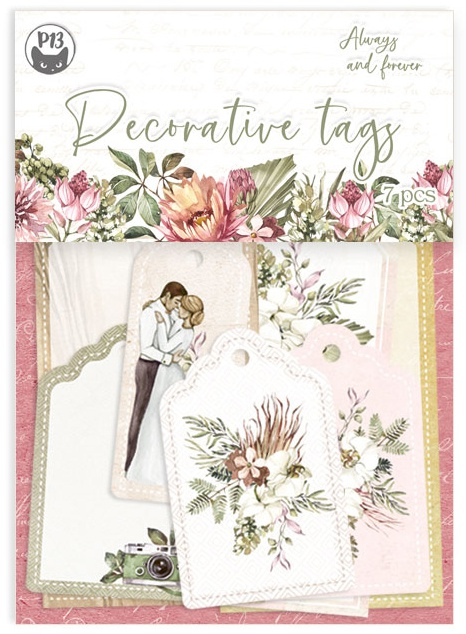 Always & Forever Double-Sided Cardstock Tags 7/Pkg-#03