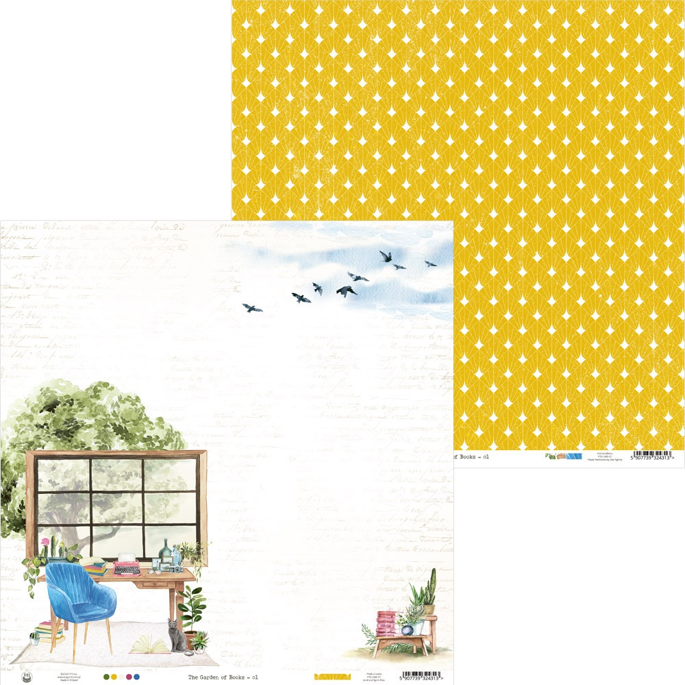 COLLECTION: The Garden Of Books Double-Sided Cardstock 12X12