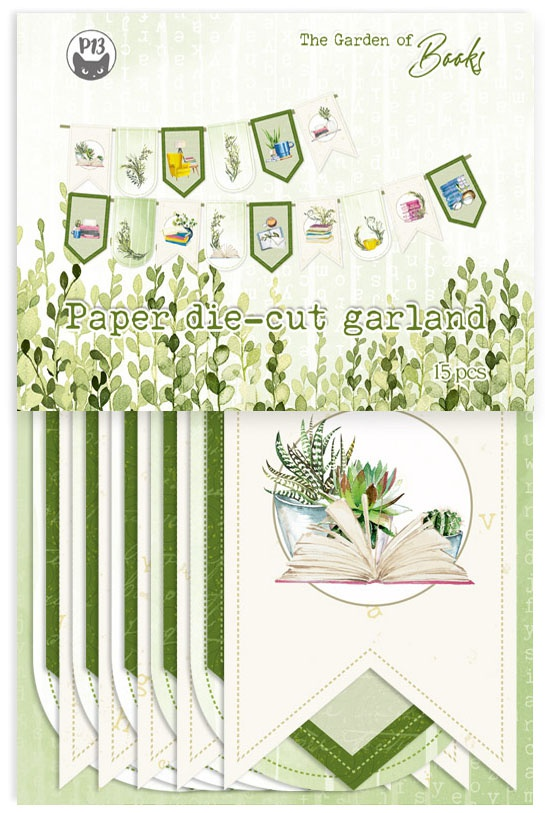 P13 The Garden Of Books Double-Sided Cardstock Die-Cuts-Banner