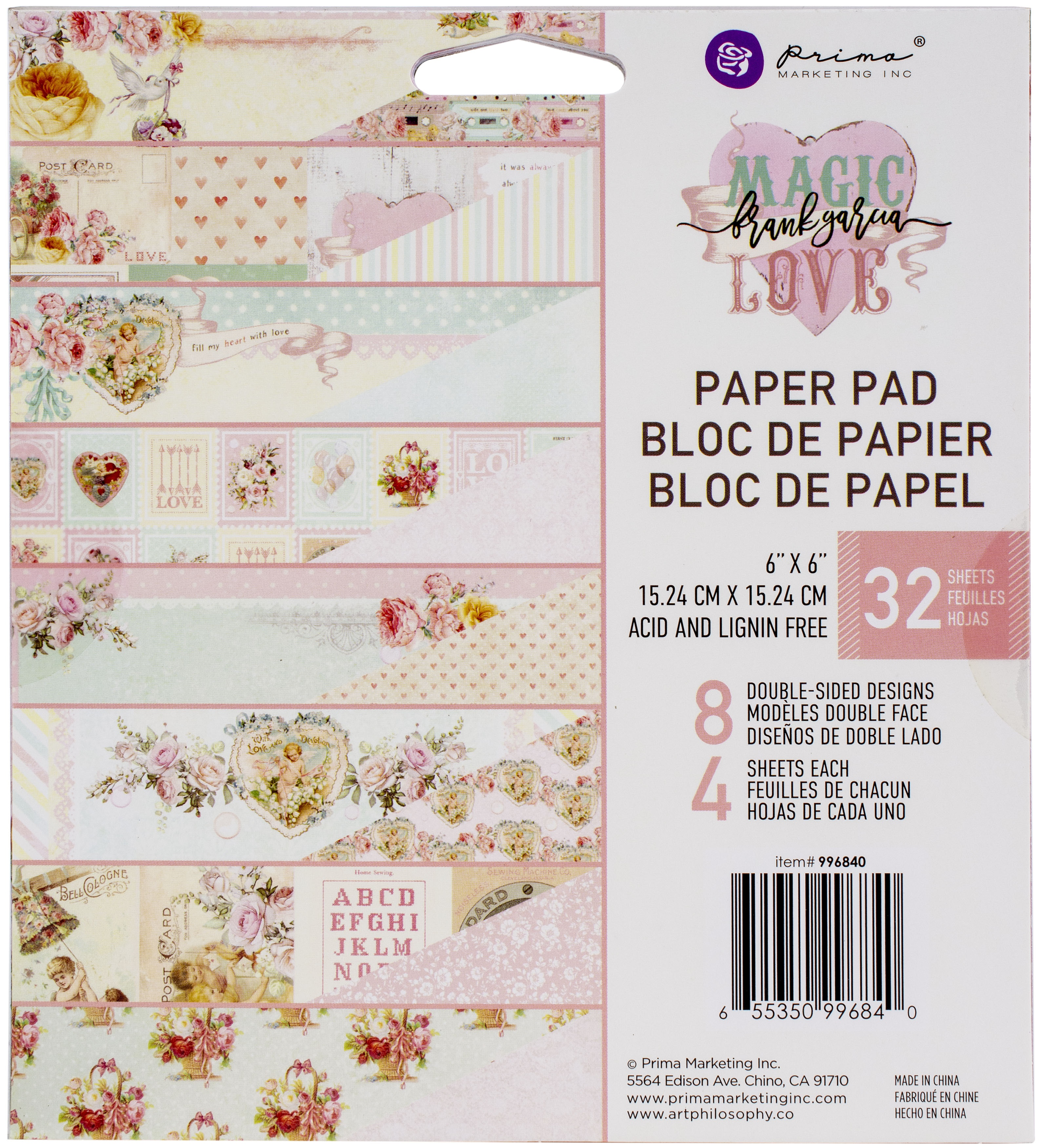 Prima Marketing Magic Love Paper Pad 6X6