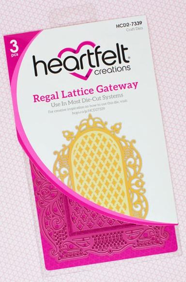 Heartfelt Creations Cut & Emboss Dies-Regal Lattice Gateway
