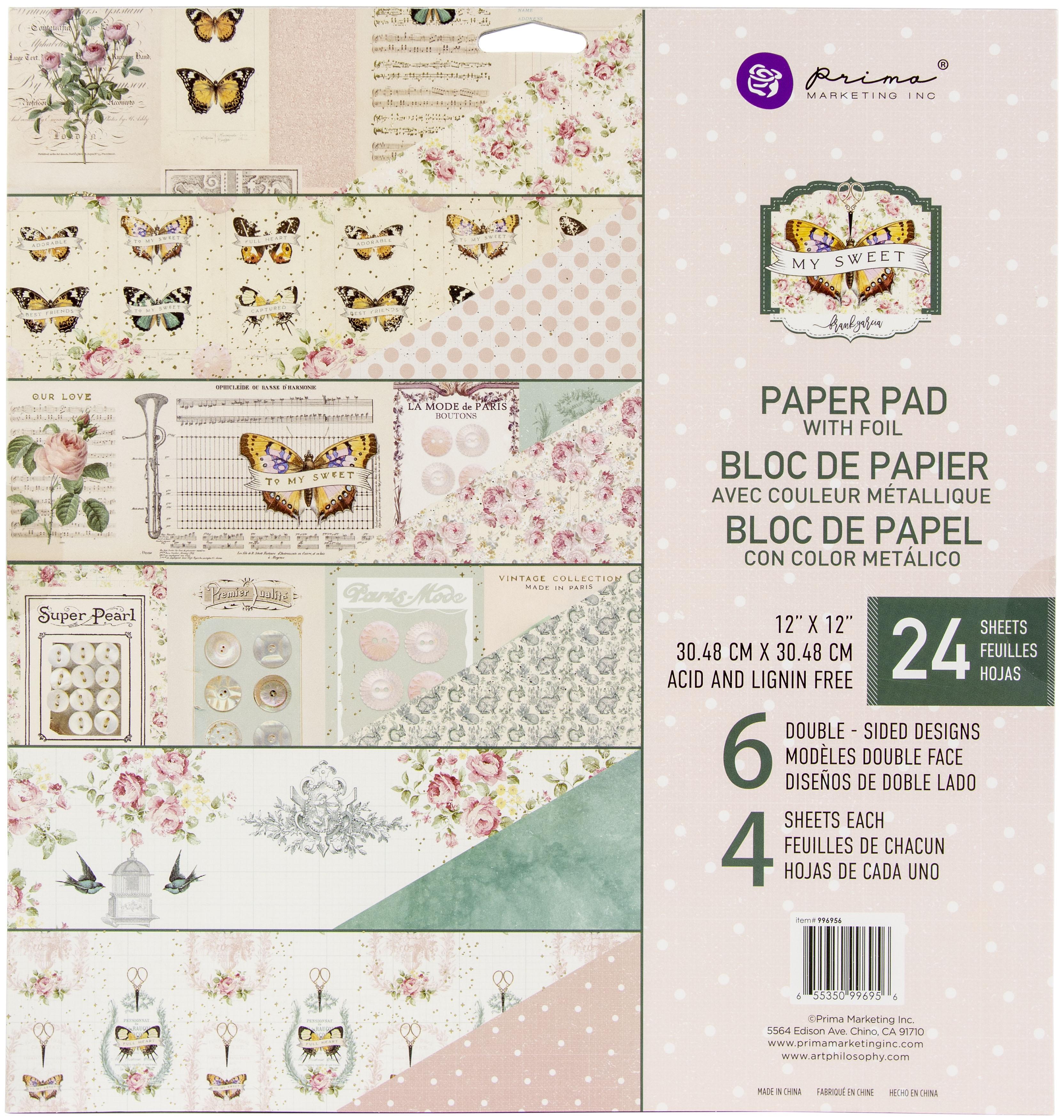 Prima Marketing Double-Sided Paper Pad 12X12 24/Pkg-My Sweet By Frank Garcia, ...