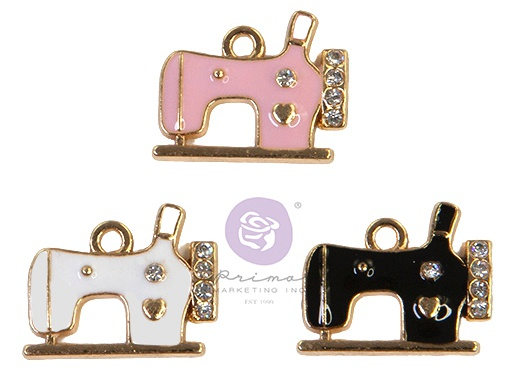 My Sweet By Frank Garcia Charms 3/Pkg-Sewing Machine