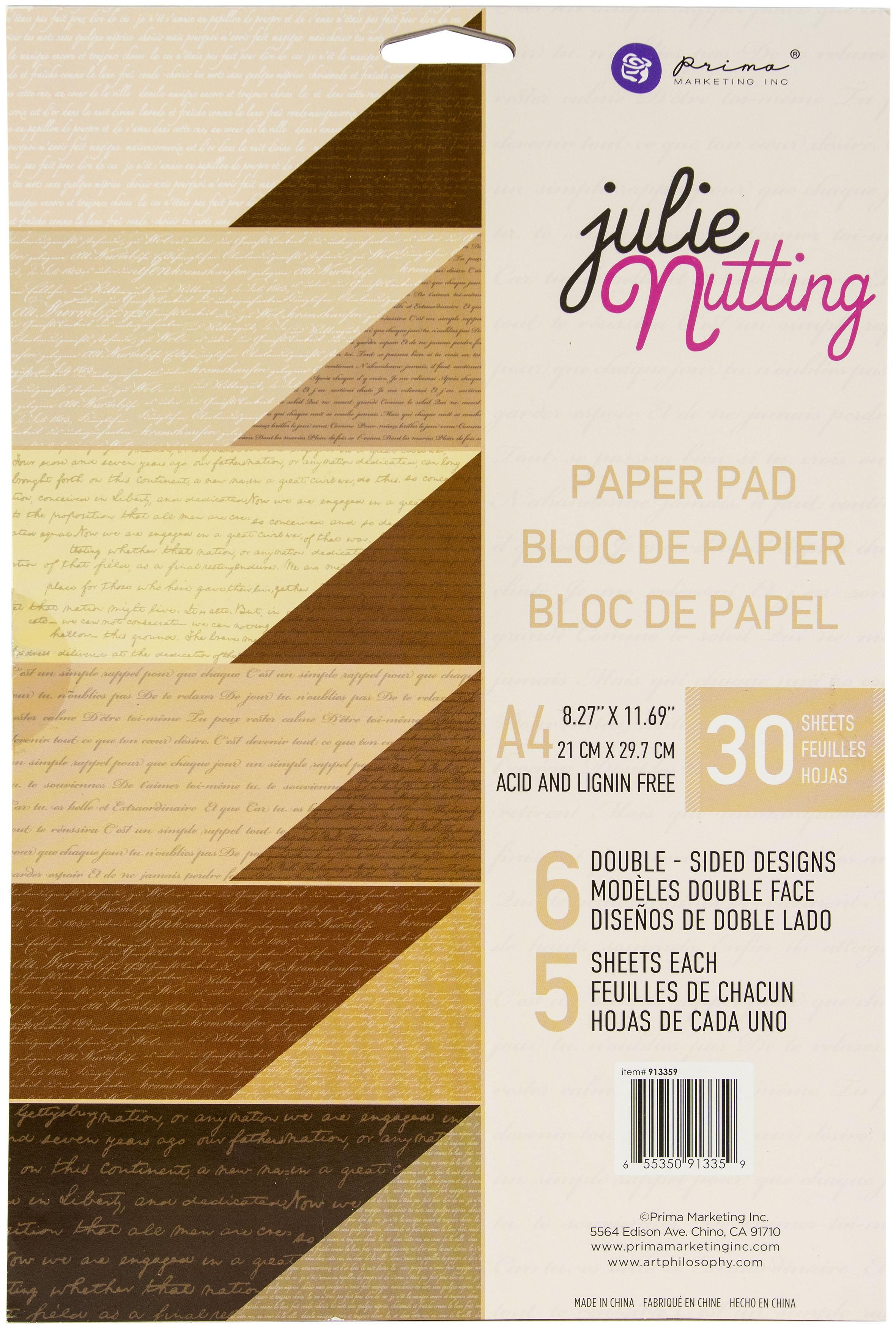 Prima Marketing Double-Sided Paper Pad A4 30/Pkg-Julie Nutting Skin Tones, 6 Des/5 Ea