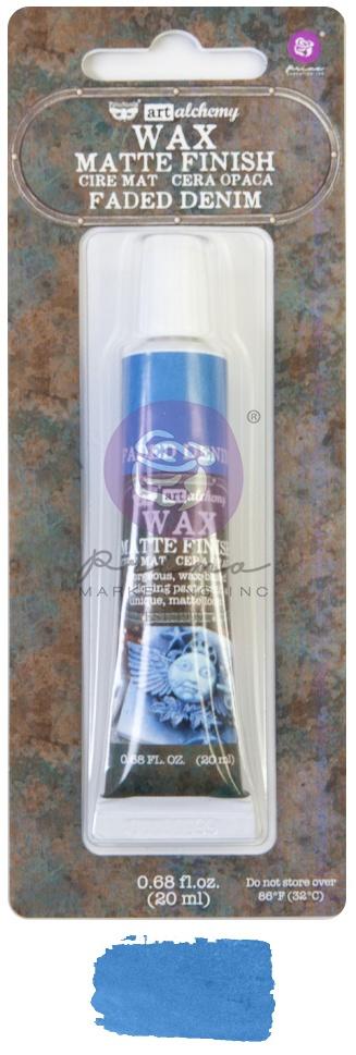 Finnabair Art Alchemy Matte Wax .68 Fluid Ounce-Faded Denim