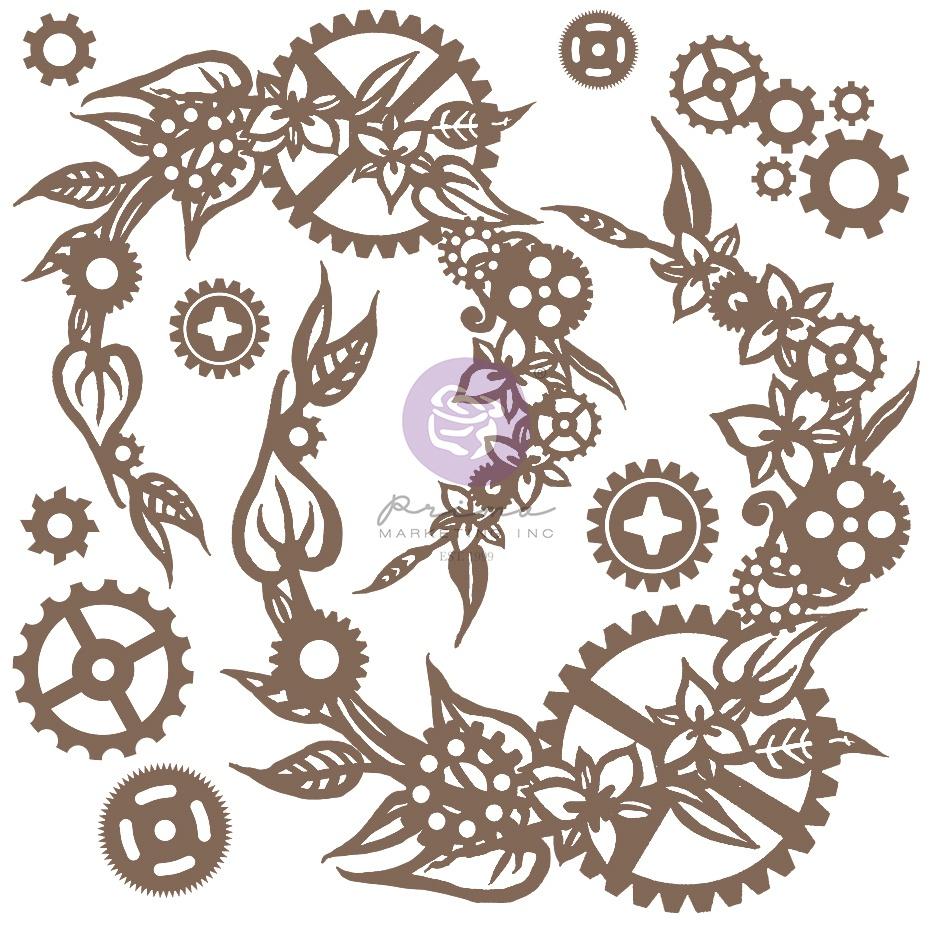 Finnabair Decorative Chipboard-Steampunk Wreath, 13/Pkg