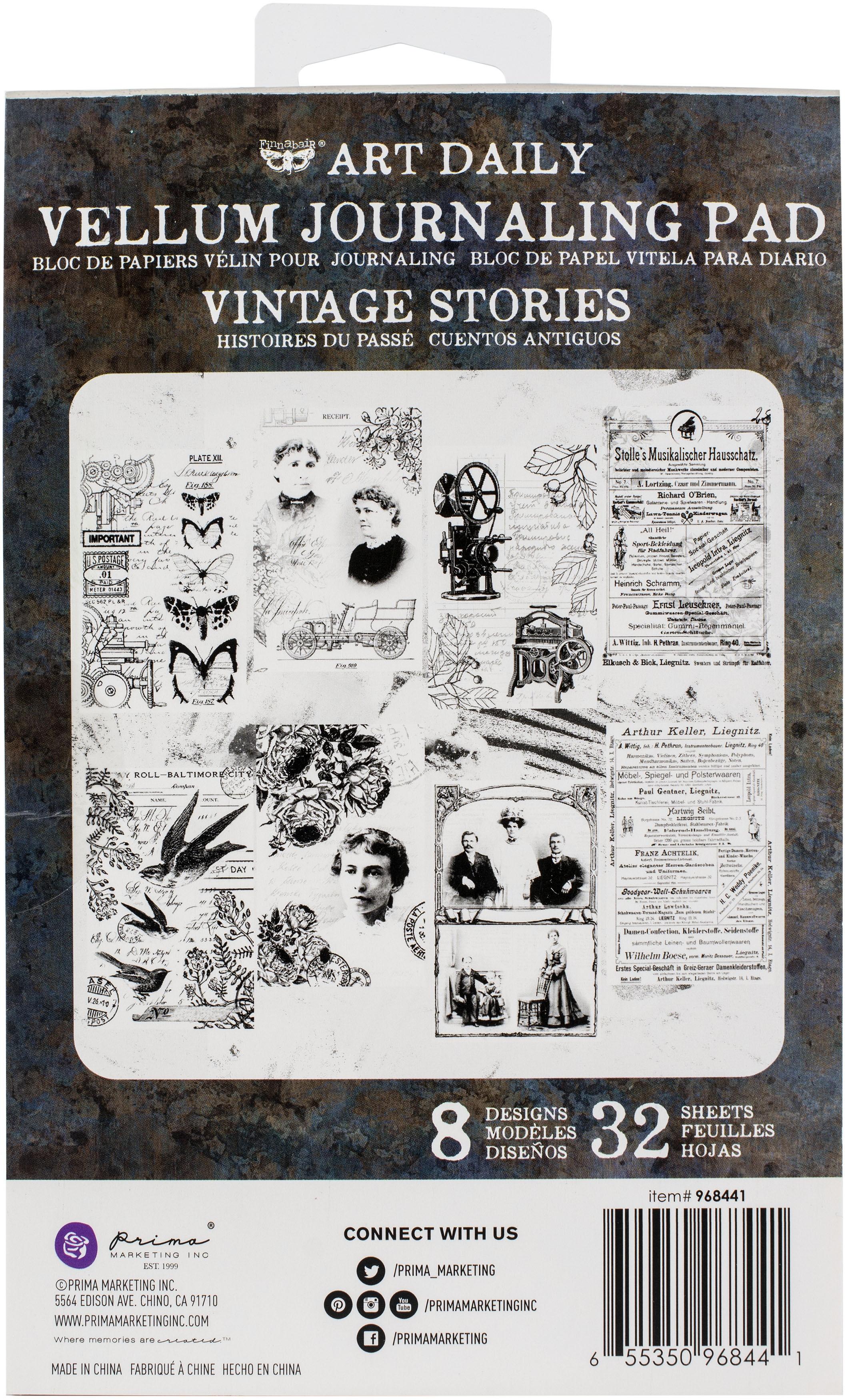 Prima Art Daily Vellum Pad 32/Pkg-Vintage Stories