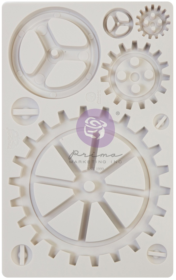 Finnabair Decor Moulds 5X8-Large Gears