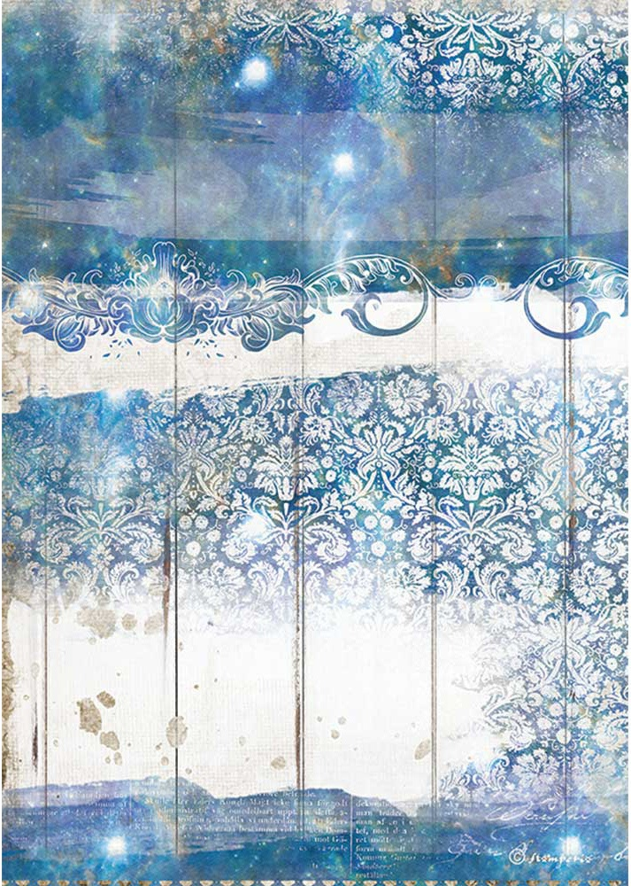 Stamperia Rice Paper Sheet A4-Sea Dream Texture, Romantic