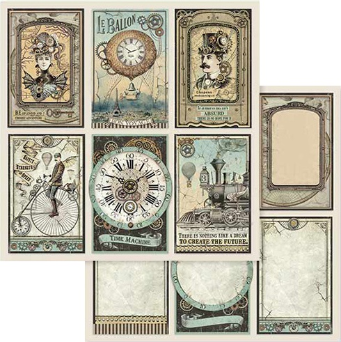 Stamperia Double-Sided Paper Pad 8X8 10/Pkg-Voyages Fantastiques, 10 Designs/1 Each