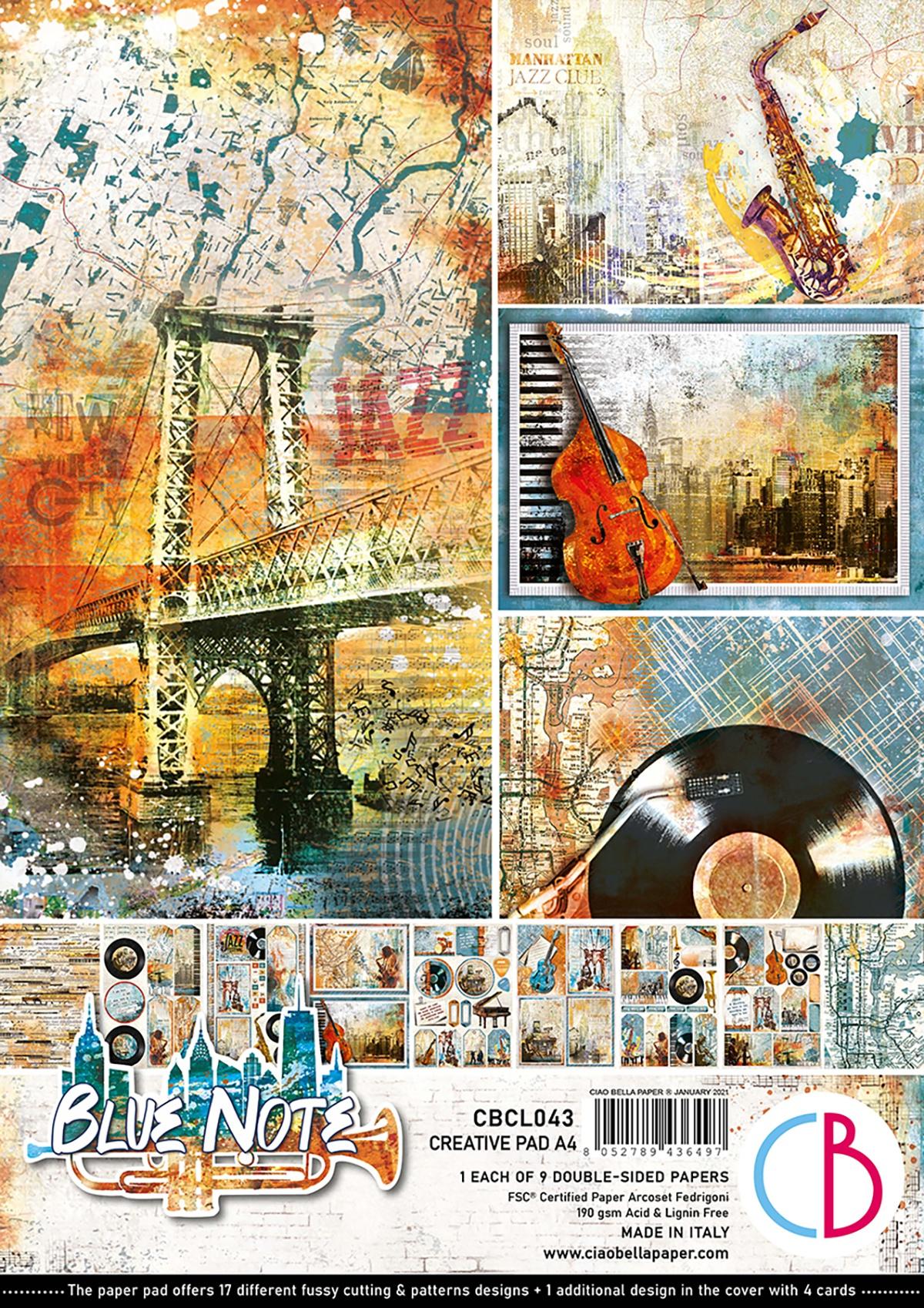 Ciao Bella - Blue Note A4, 9 Designs