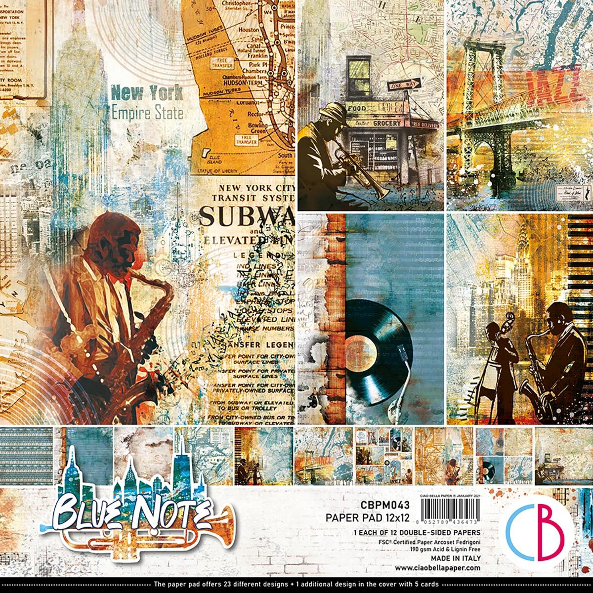 Ciao Bella - Blue Note - 12x12 Paper Pad