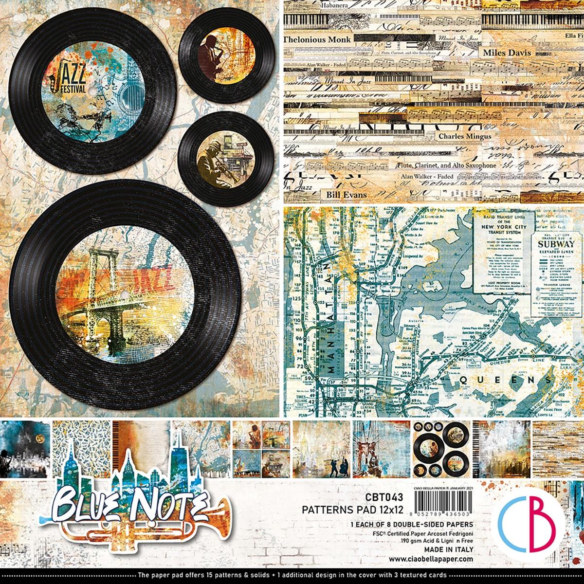 Ciao Bella - Blue Note - 12x12 Patterns Pad