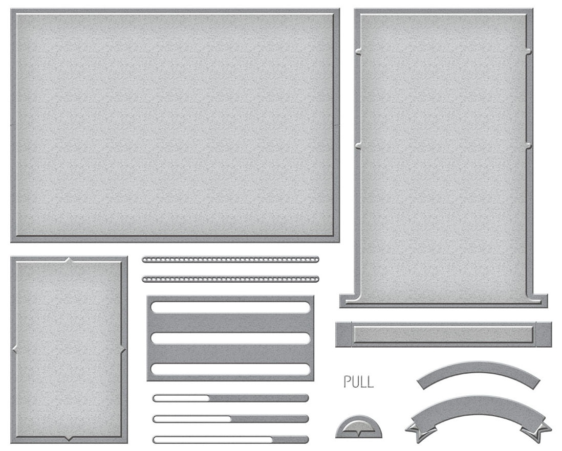 Card Base Etched Dies-Make A Scene Card Base