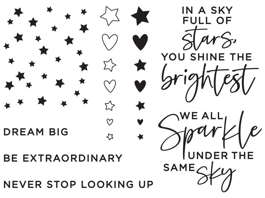 Spellbinders Clear Acrylic Stamps-Starstruck Sentiments
