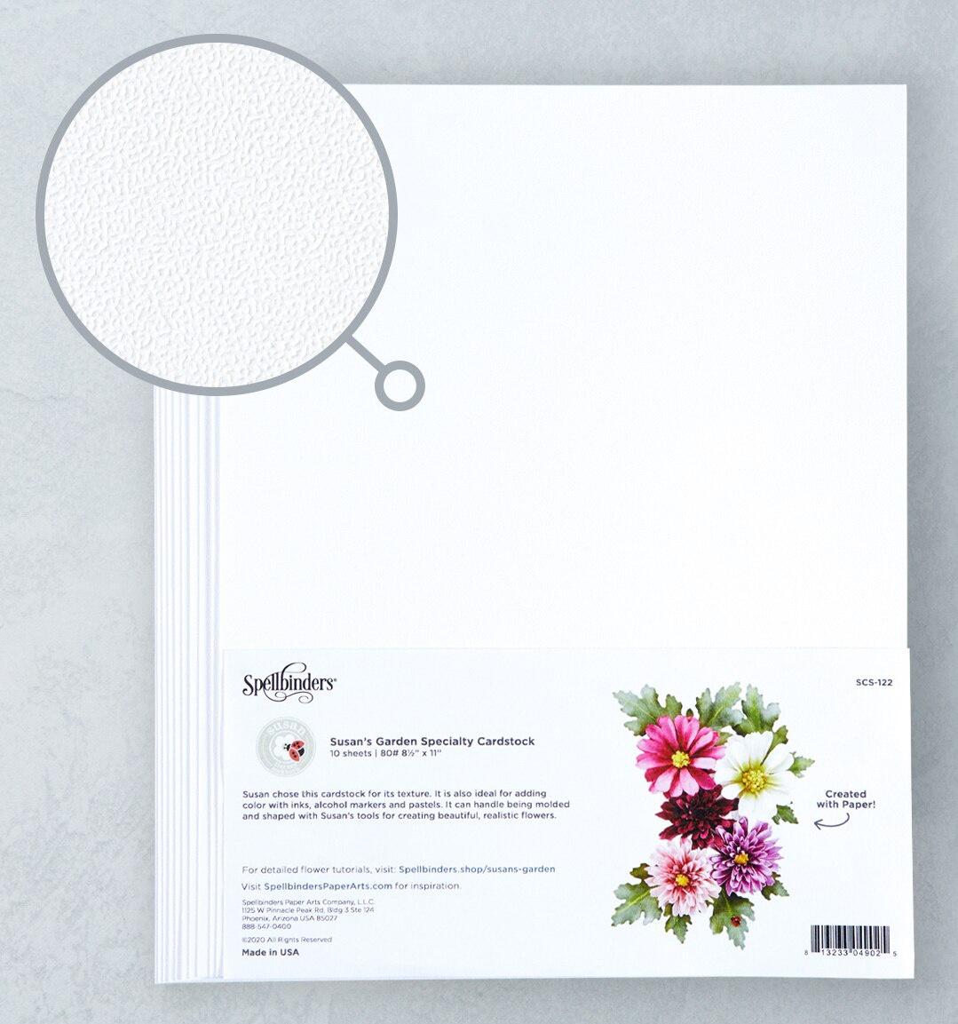 Spellbinders - Specialty Cardstock 10/Pkg-Susan's Garden - Stippled