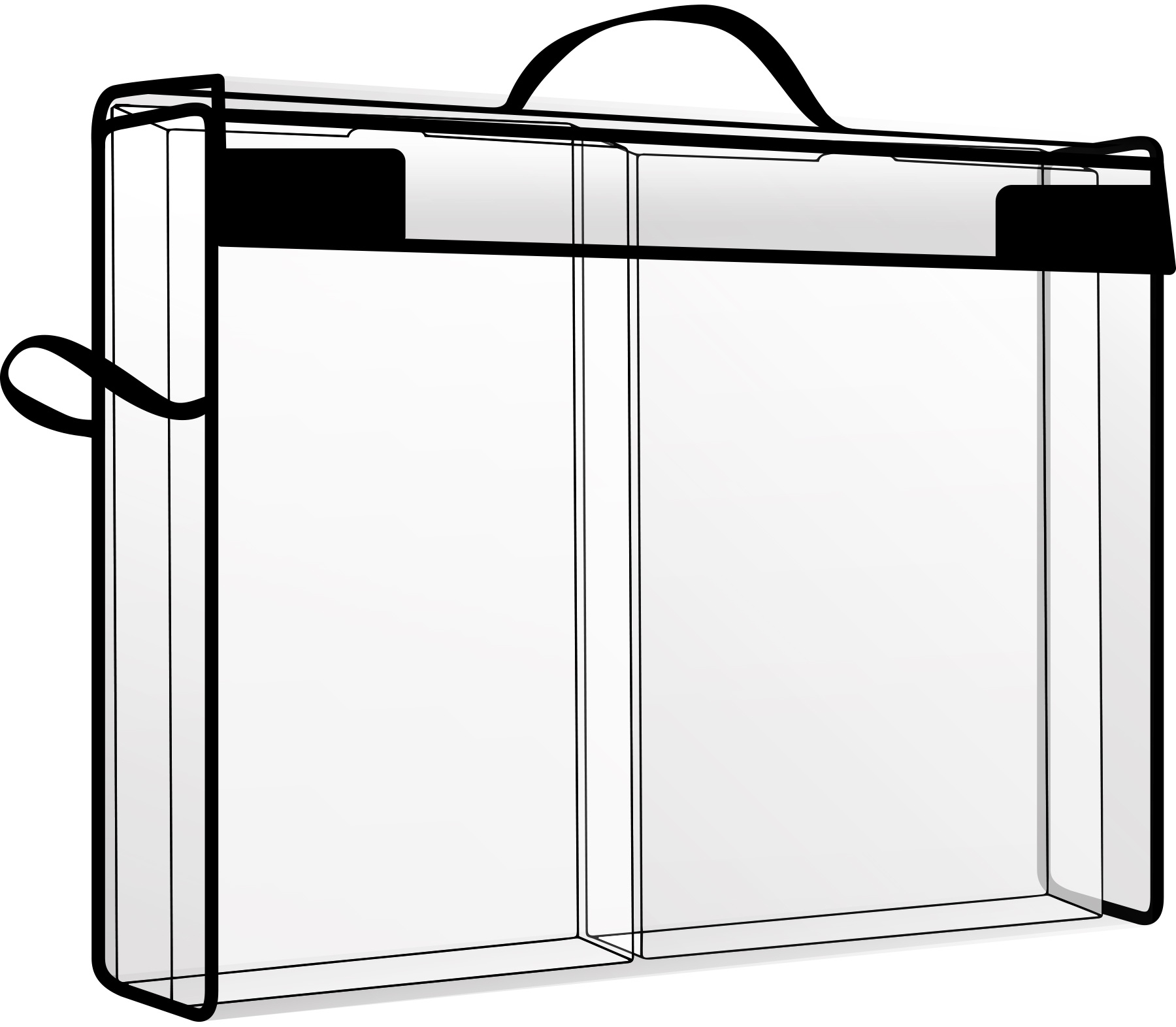 Totally Tiffany Storage & Supply Cases With 2 Drawers-