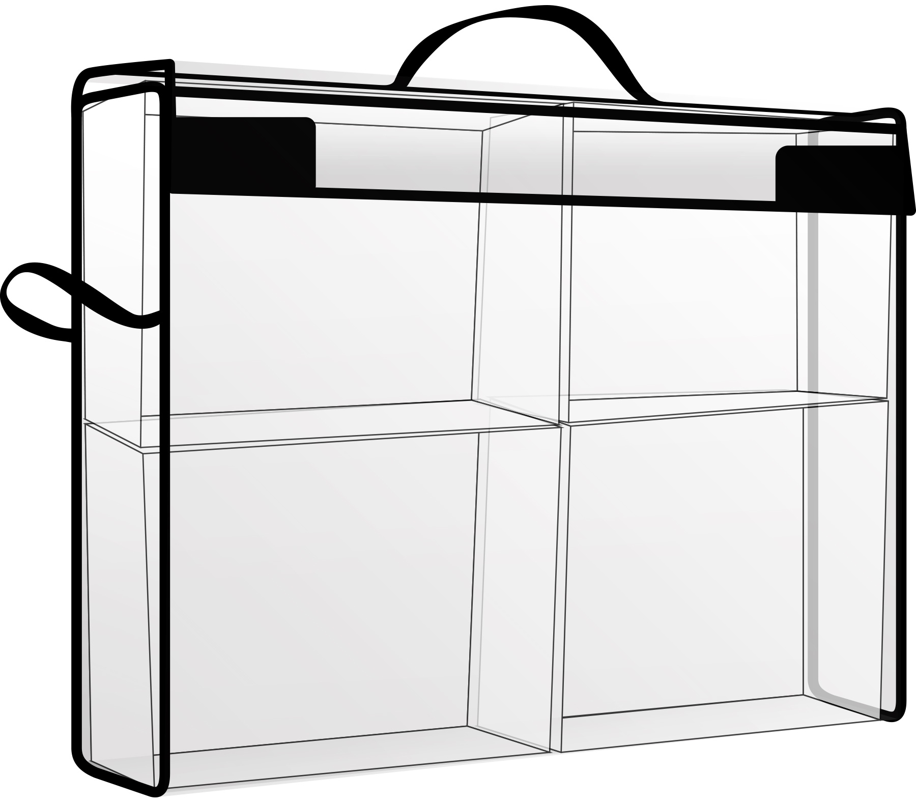 Totally Tiffany Storage & Supply Cases With 4 Drawers-