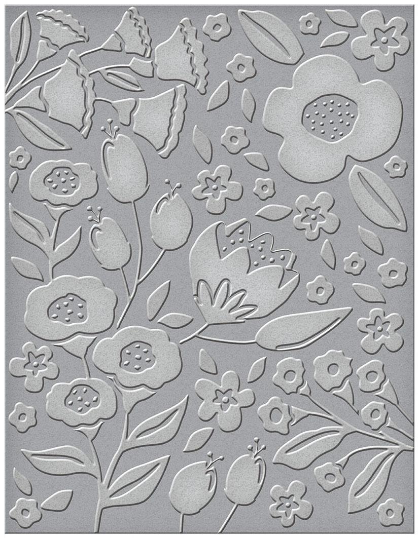 Spellbinders Embossing Folder-Simply Perfect Florets