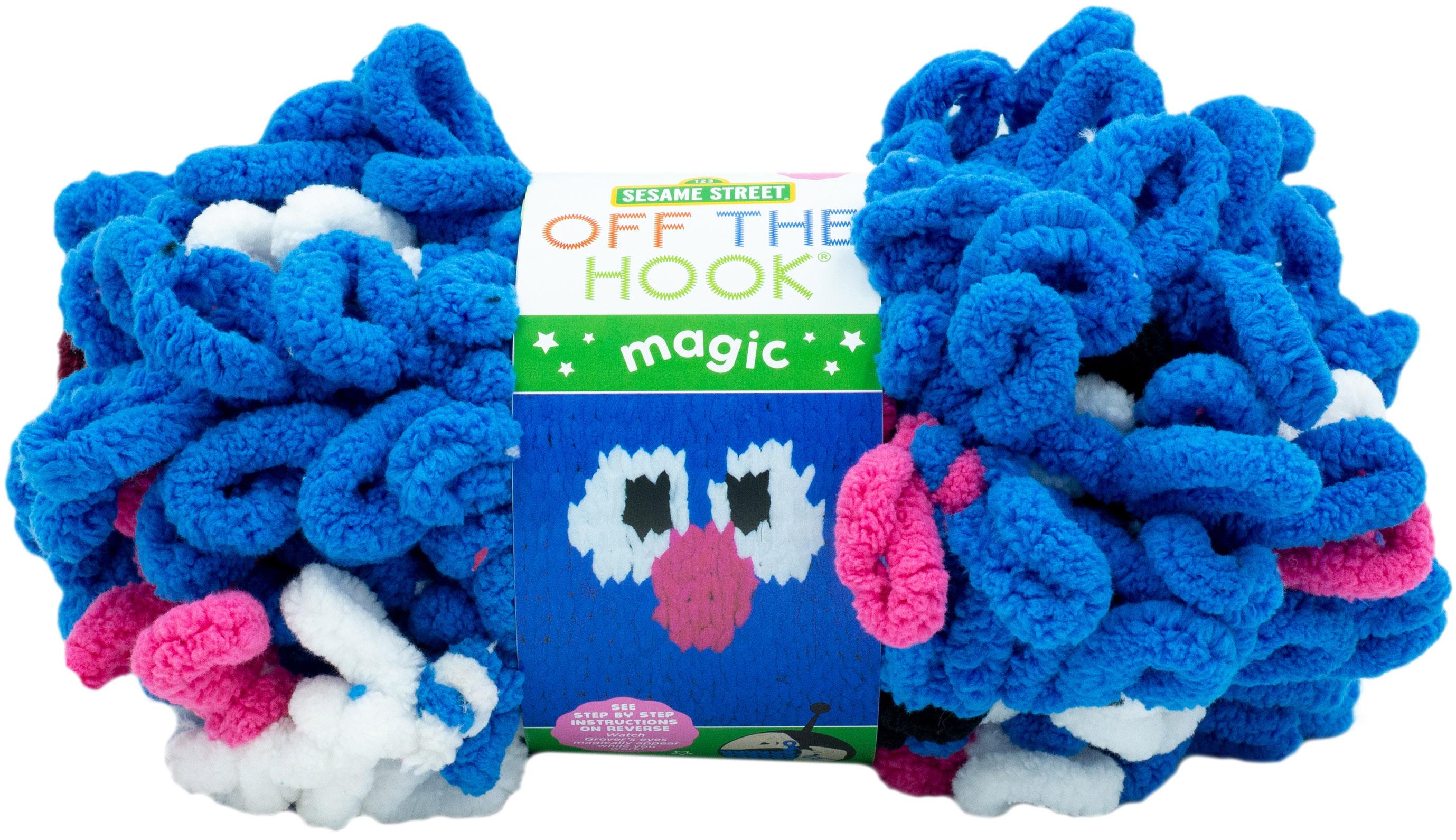 Lion Brand Sesame Street Off the Hook Magic Yarn-Elmo Smile
