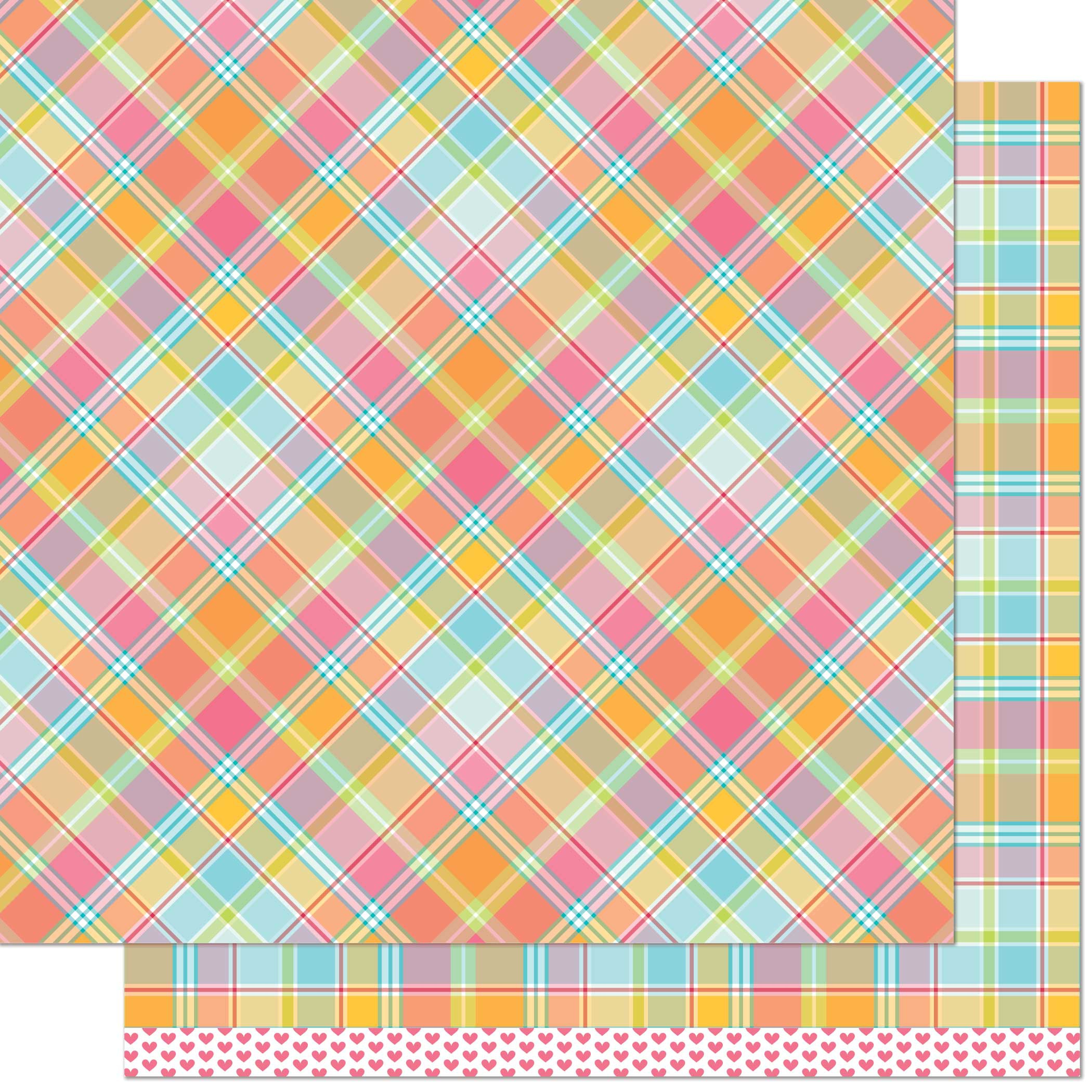 LF Perfectly Plaid Double-Sided Cardstock 12X12-Nadia Remix