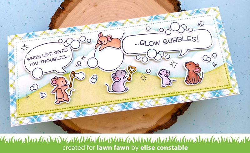 Lawn Fawn Clear Stamps 4X6-Bubbles Of Joy