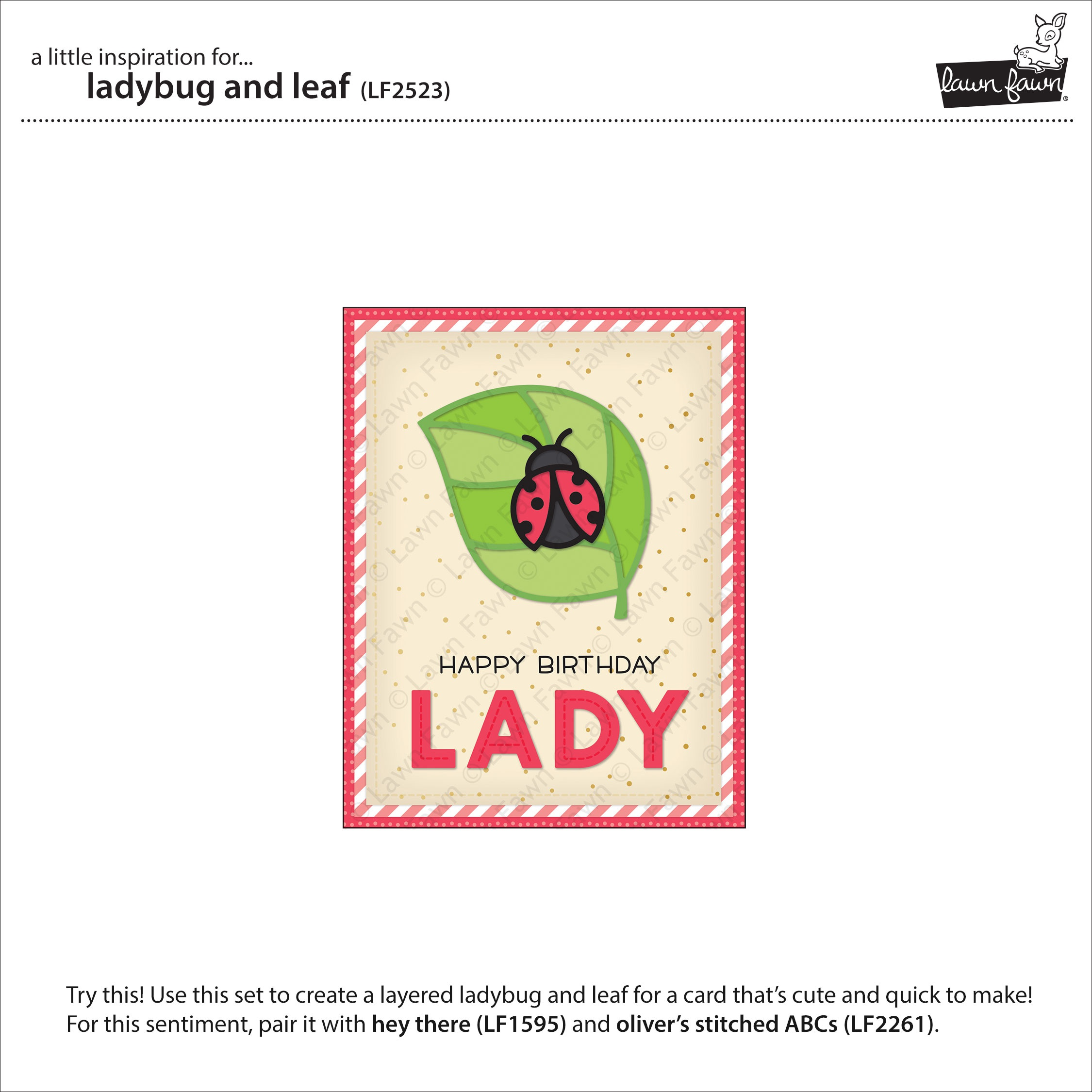 Lawn Cuts Custom Craft Die -Ladybug & Leaf