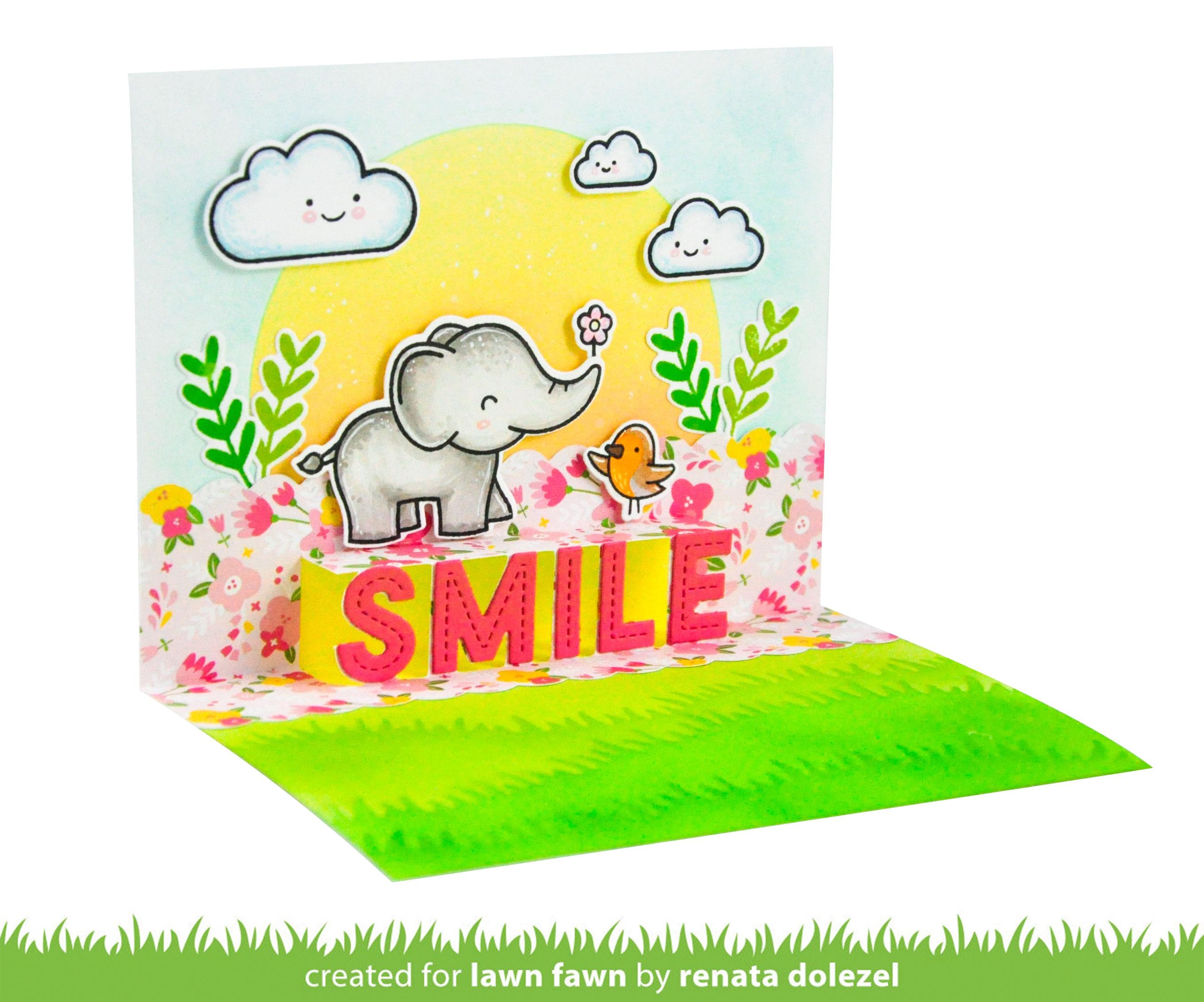Lawn Cuts Custom Craft Die -Pop-Up Smile