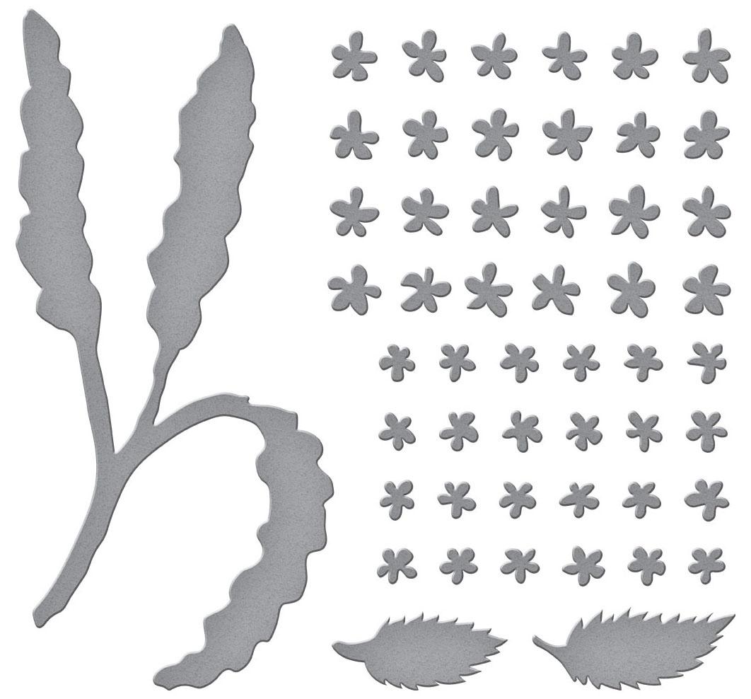 Spellbinders Etched Dies-Spirea (Bridal Wreath)