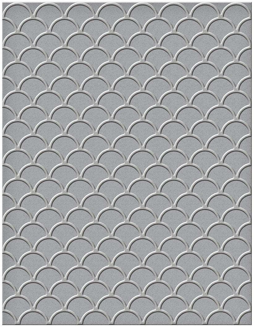 Spellbinders Embossing Folder-Scallops