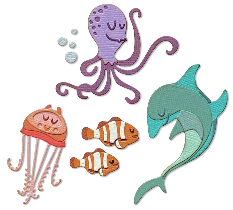 Sizzix Thinlits Dies By Tim Holtz 22/Pkg-Under The Sea #1 Colorize