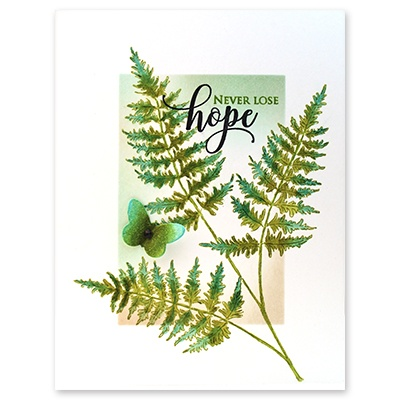 Penny Black Cling Stamps -Fresh Fern