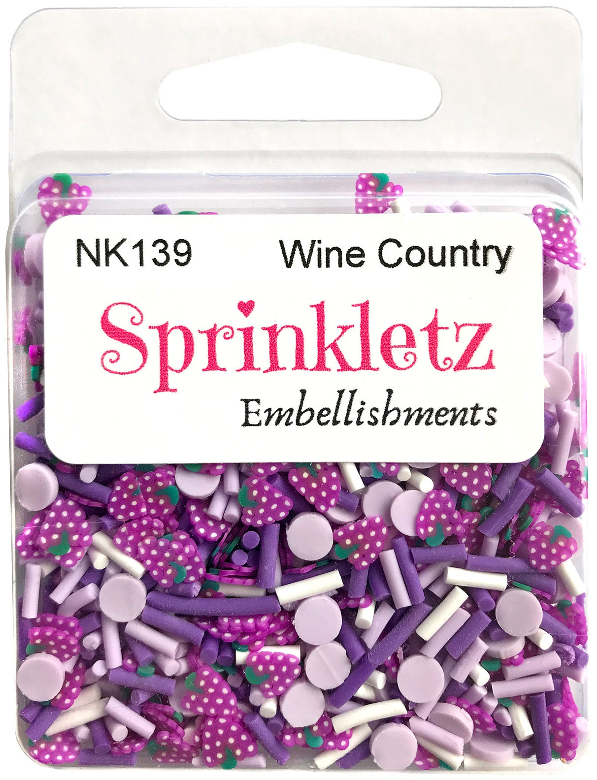 Buttons Galore Sprinkletz Embellishments 12g-Wine Country