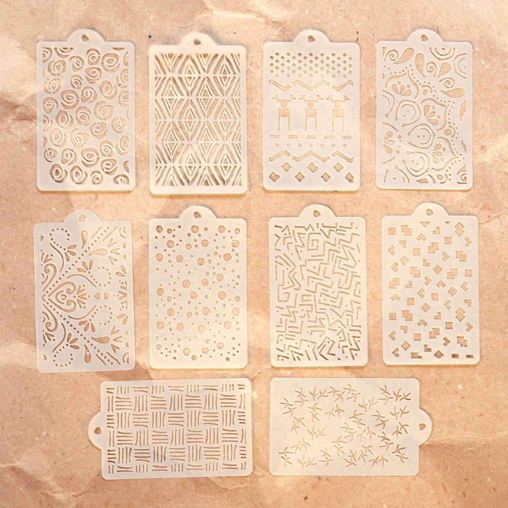 Elizabeth Craft Stencil Pack 4.3X8.7 10/Pkg-Pattern