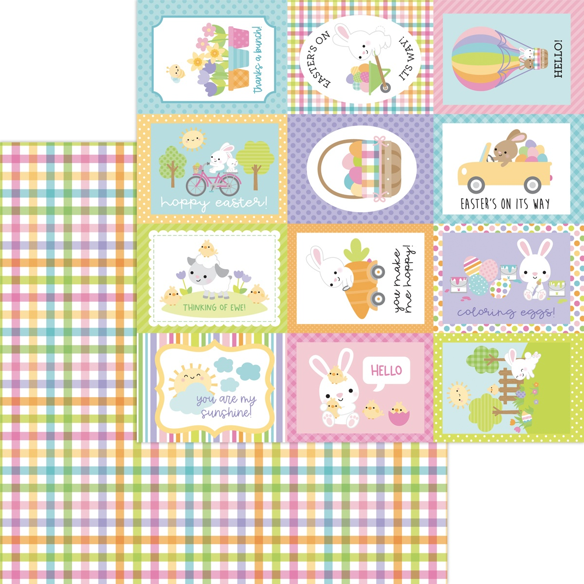 CLICK HERE FOR MORE DESIGNS Hippity Hoppity Double-Sided Cardstock 12X12-Baby Carrots