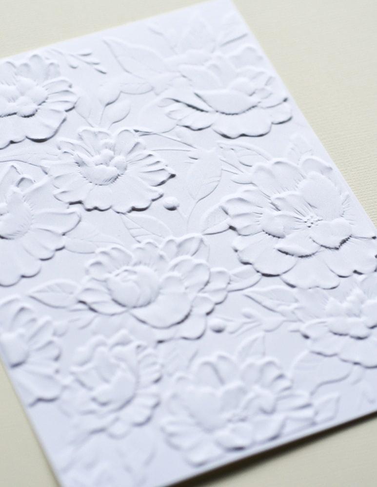 3D Embossing Folder 4.5X5.75 Blooming