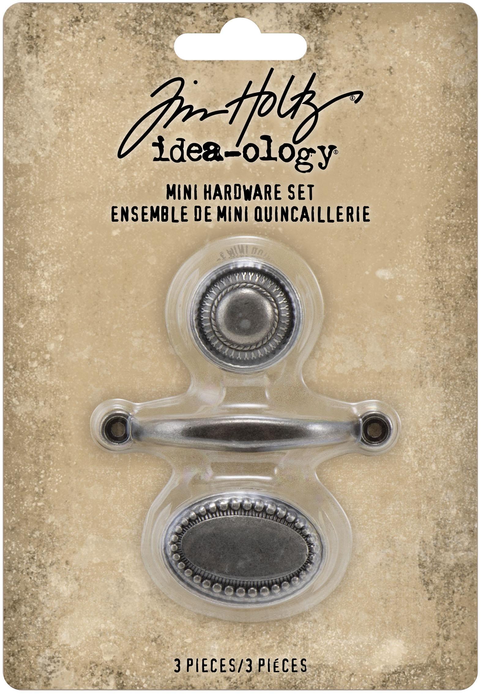 Tim Holtz Idea-Ology Mini Metal Hardware Pulls 3/Pkg-