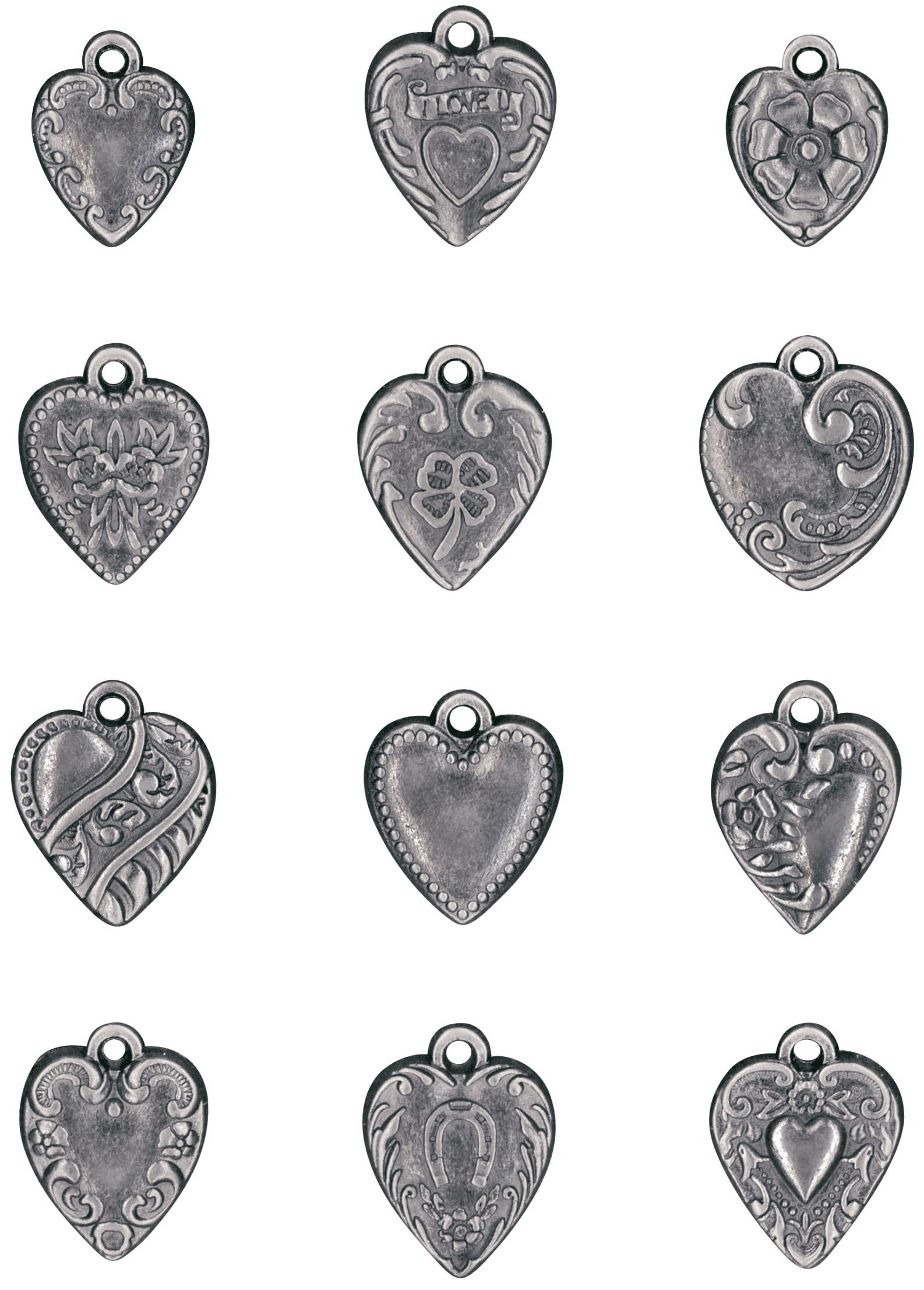 Idea-Ology Metal Adornments 12/Pkg-Hearts