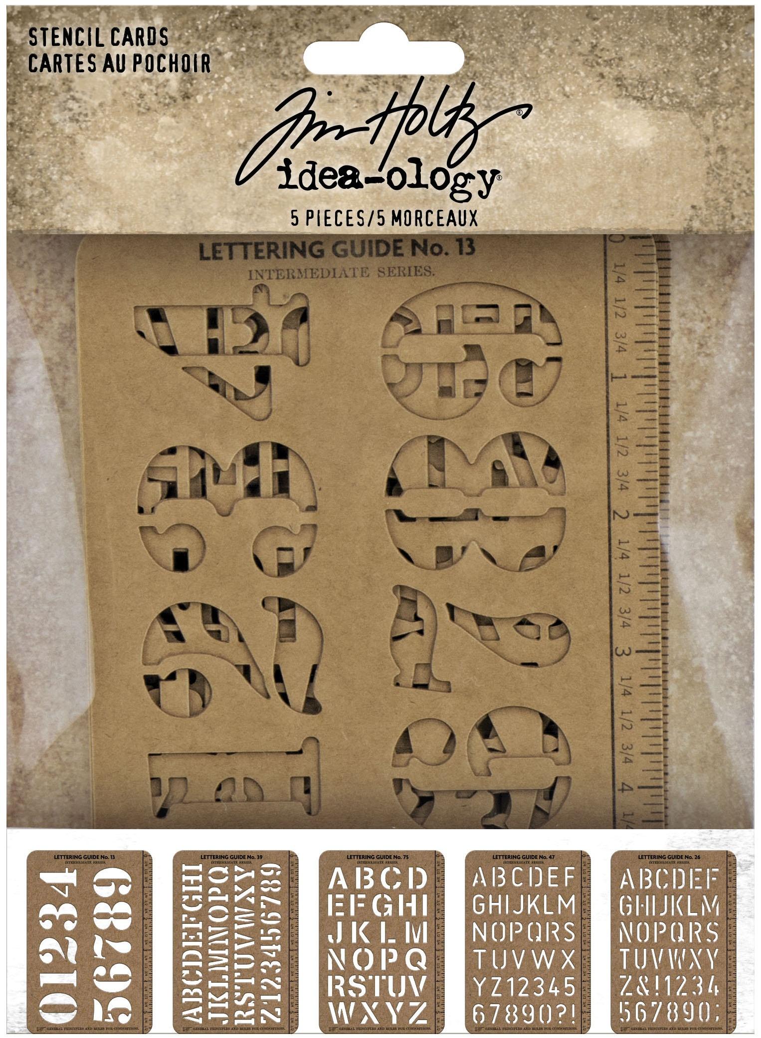 Idea-Ology Stencil Cards 5.375X3.75 5/Pkg-