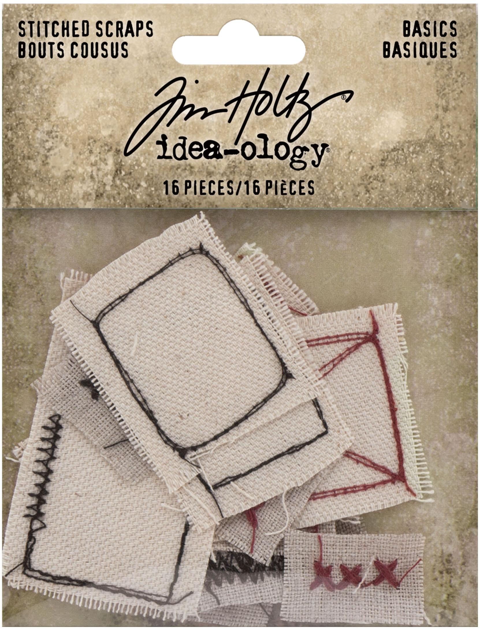 Idea-Ology Stitched Scraps 16/Pkg-Basics