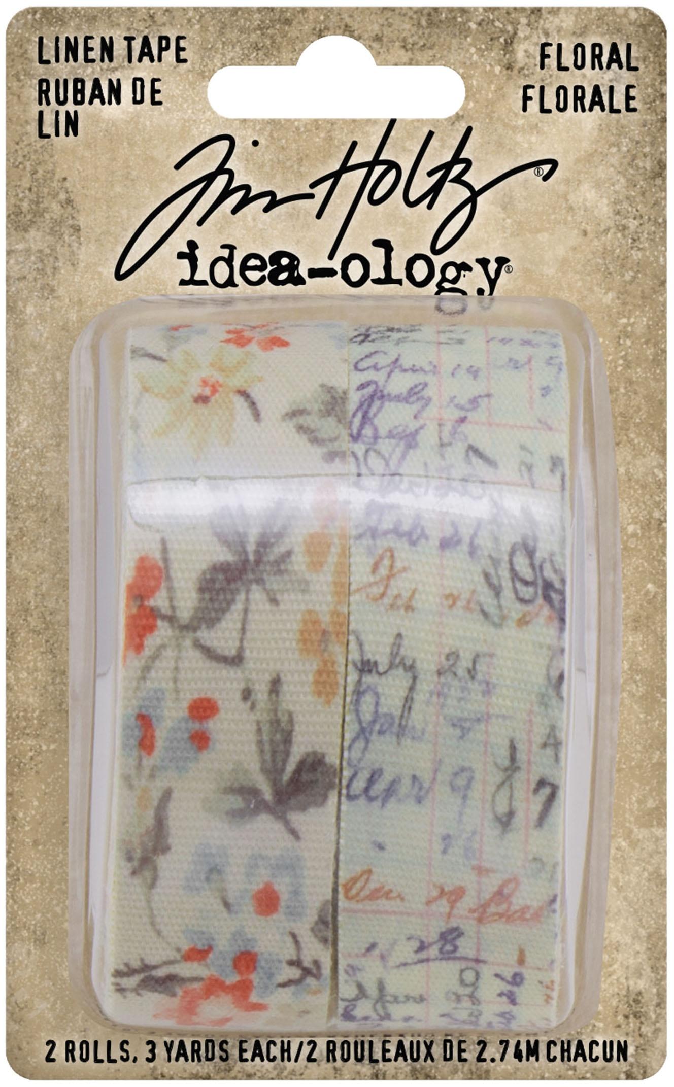 Idea-Ology Linen Tape 1X3yd 2/Pkg-Floral