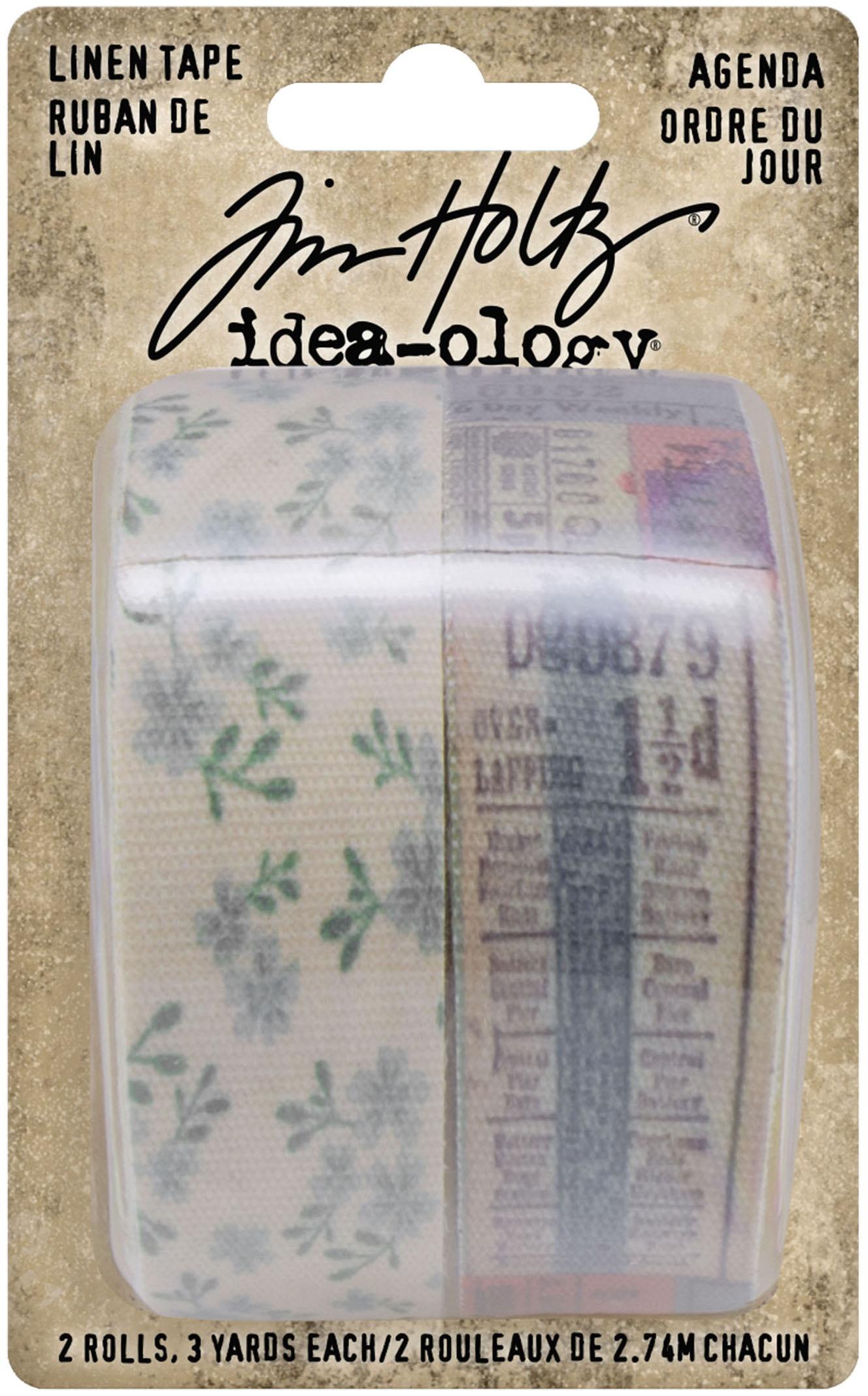 Idea-Ology Linen Tape 1X3yd 2/Pkg Agenda