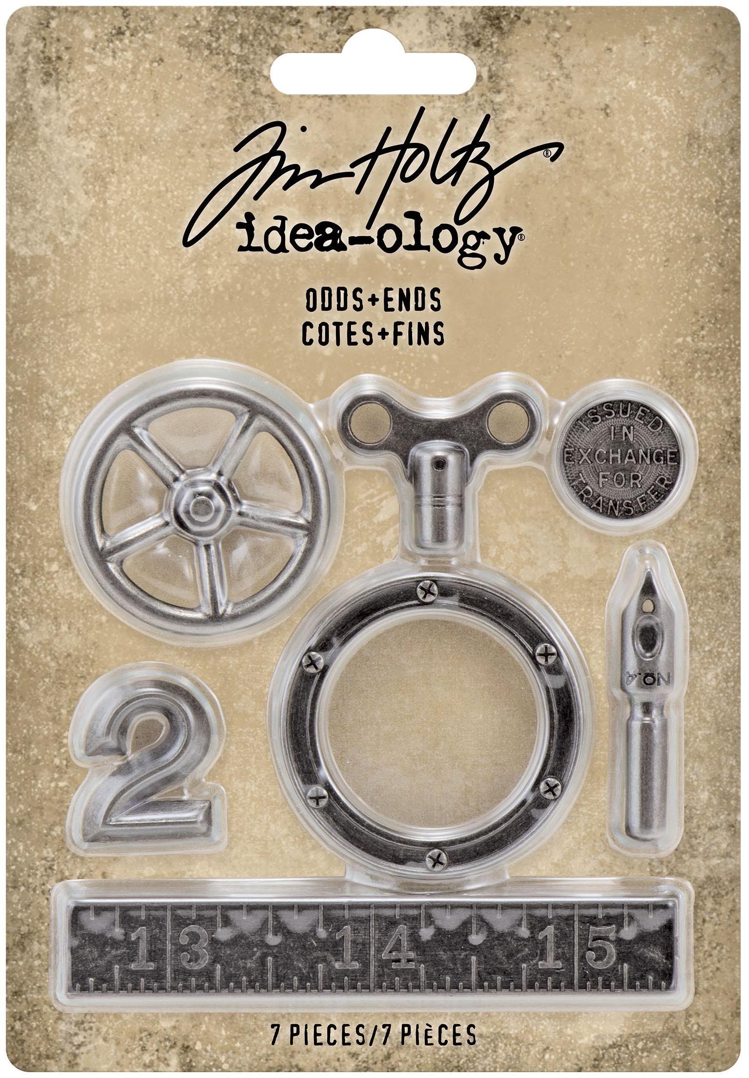 Idea-Ology Metal Odds & Ends 7/Pkg-Antique Nickel
