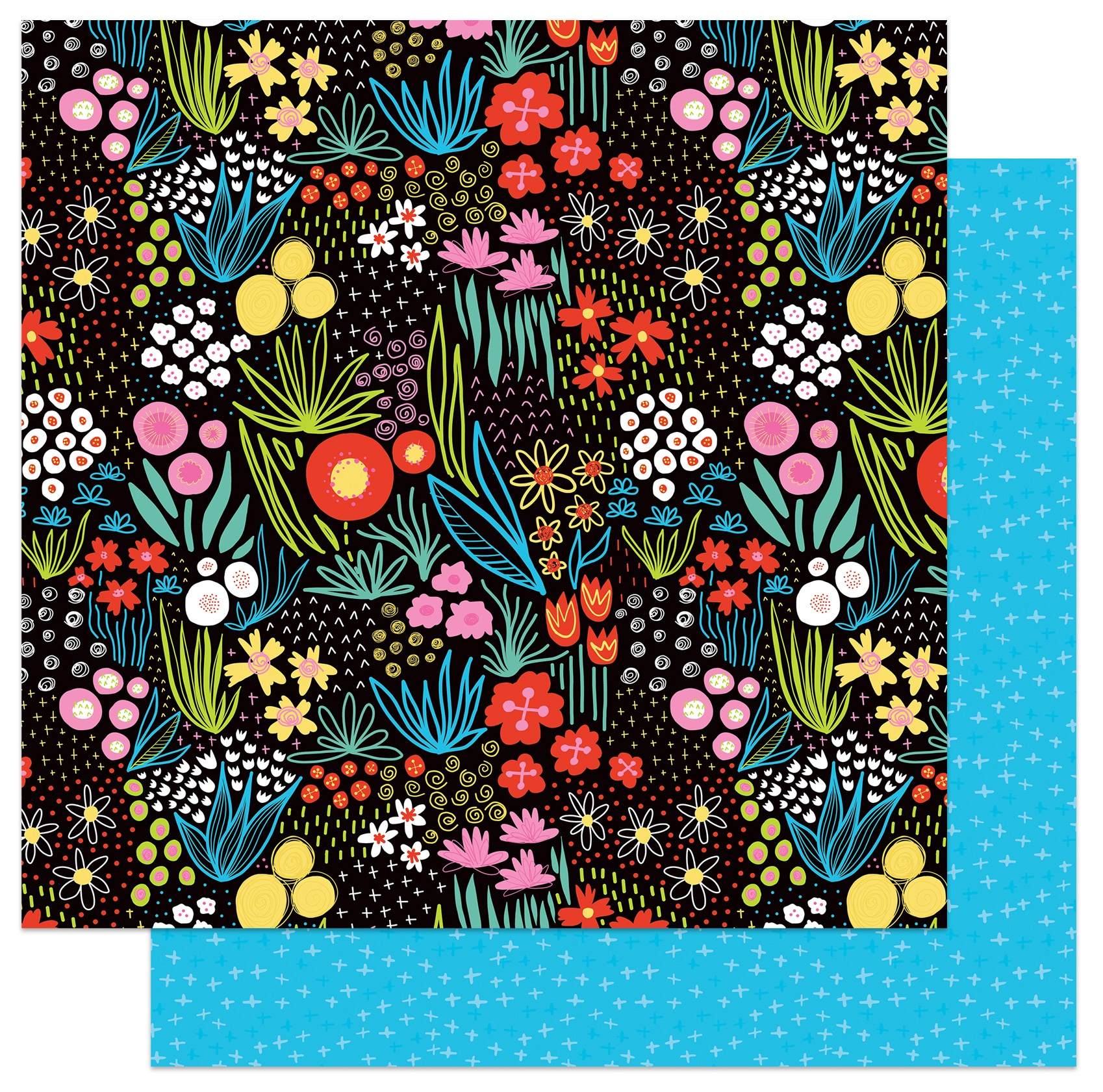 PhotoPlay - Birds Of A Feather - FLOWER GARDEN - 12x12 Double-Sided Paper