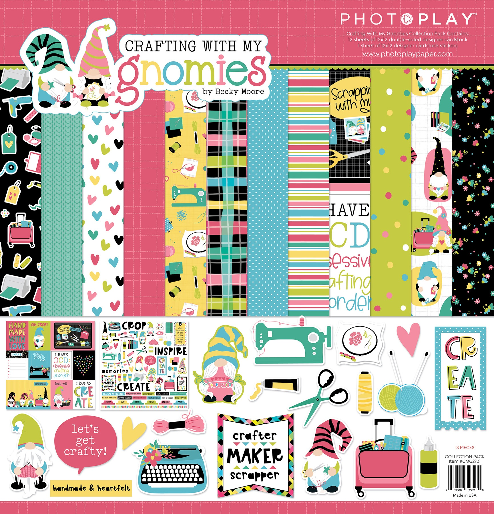 PhotoPlay Collection Pack 12X12-Crafting With My Gnomies